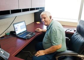 Jim Newton at Desk